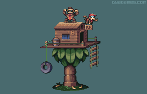 Donkey Kong Treehouse by AlbertoV