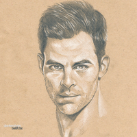 Chris Pine #Sketchbook by dankershaw