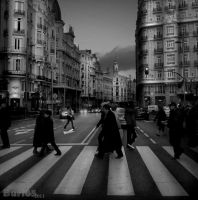Crossing in Madrid by Buri65