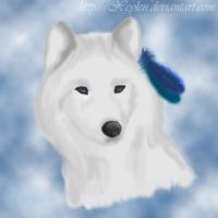 White Indian Wolf by Xeylen