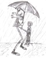 In the Rain by Atrixfromice