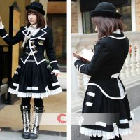 Turndown Collar  Preppy Look Style Lolita Suit by wendywei2012