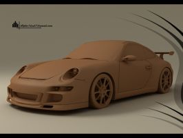Porsche 911 GT3 clay by Alpha1dash1