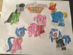 Kyoryu Ponies/Dino Charge Ponies by RioDecade96