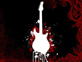Guitar Wallpaper by Kowait