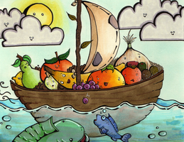 Fruit Boat by sharkdiver131