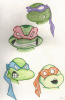 TURTLE HEADS by kylemulsow