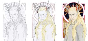Thranduil Progress by loladrawsthings