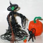 Witch, Black Cat and Pumpkins by reynaldomolinawire