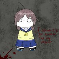 Cryaotic in Corpse Party by SomethingWithNio