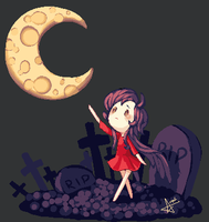 Pixel - WM - Moon Wish by starexorcist