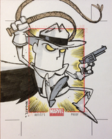PHANTOM RIDER uncut AP sketch card commission by thecheckeredman