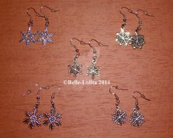 Snow Flake Ear Rings by Belle-Lolita-Designs