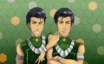 Wing and Wei Beifong by AlphaSas