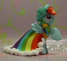 Royal Wedding Rainbow Dash G4 Custom MLP by SanadaOokmai