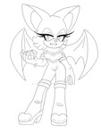 Rouge the Bat Lineart by Toraleii