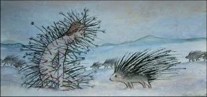 porcupines and Saint Sebastian by barbarasobczynska