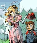 Peach and Mario by theintrovert