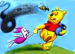 Winnie the Pooh and bees by zdrer456