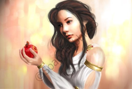 Persephone and the Pomegranate by soapybubbles3