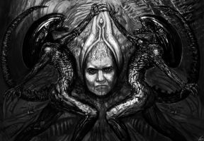 Homage to H.R Giger by RudyCrus