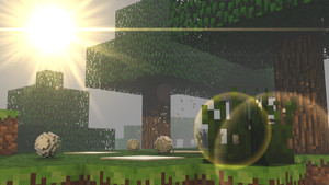 Minecraft Snow with Lens Flare by LebronAnimates16