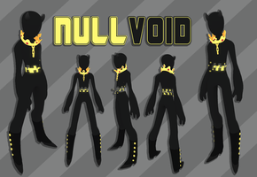 nullvoid - low poly character model for second lif by voidirium