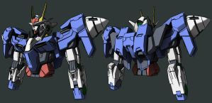 Gundam 00 Anime Style WIP 3 by Seig-Verdelet
