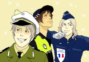 Bad mates in police uniforms by Inko-Dokotei