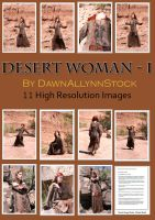 Desert Woman I by DawnAllynnStock