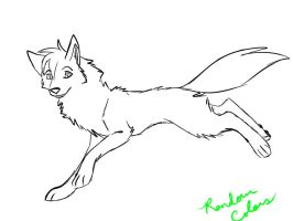 Female Wolf Coloring Page by RoseDark-SilverWolf