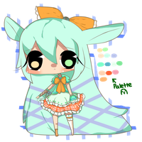 First Adoptable!: Orange/Lime Lolita by Lizanottes