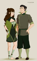 C: Mishi and Bolin -colored- by Marina-Shads