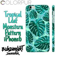 Tropical Leaf Monstera Pattern iPhone6 Case  by Bluedarkat