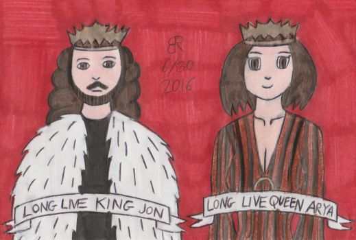 King Jon and Queen Arya by TheOnyxSwami