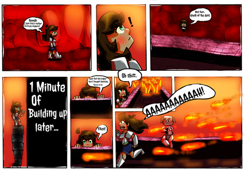 When I Find a Nether Fortress by ArtsyArcticTiger