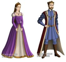 Rapunzel's Parents (Tangled) outfits by sarasarit