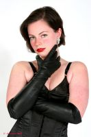 leather gloves by thebigtease