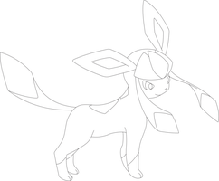 Lineart of Glaceon by InuKawaiiLover