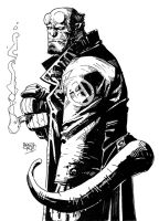 Hellboy by Grifther