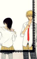 Kaichou wa maid-sama and Usui by missxcrazy
