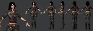 Rubi Malone Low Poly Set 3 by HazardousArts