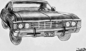 67' impala - A Winchester car by janiiineee