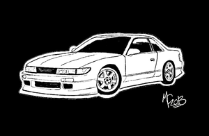 Nissan Silvia S13 by CrashyBandicoot