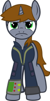 Littlepip from Fallout: Equestria - Front View by Vidsfreak