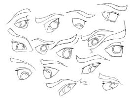 Jenna Practice and Reference #2 - Eyes w/ Eyebrows by HydeCorner