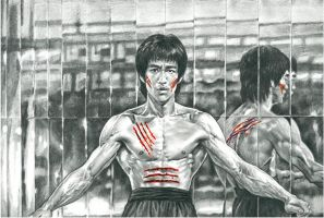Bruce Lee- Mirrors room by tonio48