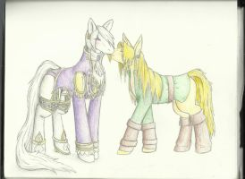 Ivy and Link Ponies by Remthedeathgoddess