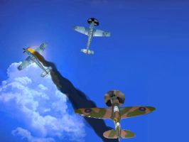 Spitfire Vs ME-109 fighters by Rafe15