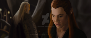 Tauriel and Thranduil by BreeTheBat